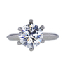 3.17 ct. Round Cut Bridal Set Tiffany & Co. Ring, F, VS2 #3