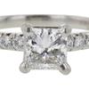 0.65 ct. Princess Cut Solitaire Ring, F-G, VS1 #3
