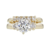 1.03 ct. Round Cut Bridal Set Ring, H, VS2 #3