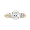 1.06 ct. Oval Cut 3 Stone Ring, J, SI1 #3