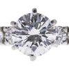 2.16 ct. Round Cut Bridal Set Ring, F, SI2 #4