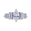 1.04 ct. Marquise Cut Solitaire Ring, D, SI2 #3