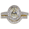 1.01 ct. Oval Cut Bridal Set Ring, K, VS1 #3