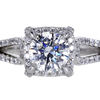 1.01 ct. Round Cut Halo Ring #2