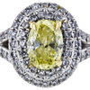 0.52 ct. Oval Cut Halo Tiffany & Co. Ring, Fancy, SI1 #1