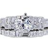 1.00 ct. Round Cut Bridal Set Ring #3