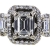 1.05 ct. Emerald Cut Bridal Set Ring, H, VVS2 #4