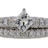 1.25 ct. Princess Cut Bridal Set Ring #1