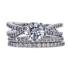 1.21 ct. Round Cut Bridal Set Ring, H, SI2 #3
