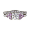 0.7 ct. Round Cut Bridal Set Ring, G, SI1 #3
