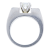 0.87 ct. Asscher Cut Bridal Set Ring, J-K, VVS2-VS1 #3