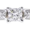 0.96 ct. Princess Cut Bridal Set Ring, I, VS2 #4