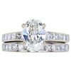 1.70 ct. Oval Cut Bridal Set Ring, I, SI1 #3