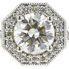 1.0 ct. Round Cut Halo Ring, K, SI2 #1