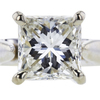 1.15 ct. Princess Cut Solitaire Ring, H-I, SI1 #1