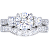 1.14 ct. Round Cut Bridal Set Ring, G, SI2 #3