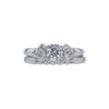 0.71 ct. Round Cut Bridal Set Ring, G, SI2 #3