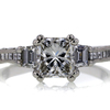 1.56 ct. Princess Cut 3 Stone Ring #1