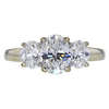 1.24 ct. Oval Cut 3 Stone Ring, F, SI1 #3