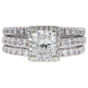 1.45 ct. Radiant Cut Bridal Set Ring, I, SI2 #3