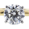 1.48 ct. Round Modified Brilliant Cut Bridal Set Ring, I, I1 #4