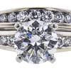 1.23 ct. Round Cut Bridal Set Ring, G, I1 #4