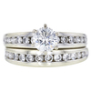 0.9 ct. Round Cut Bridal Set Ring, E, SI2 #3