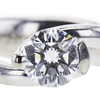 0.67 ct. Round Cut Solitaire Ring, G, SI1 #1