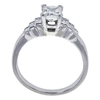 0.87 ct. Princess Cut 3 Stone Ring, H-I, VS2-SI1 #3
