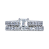 1.00 ct. Emerald Cut Bridal Set Ring, H, VS2 #2
