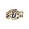 0.85 ct. Round Cut Bridal Set Ring, I-J, VS1-VS2 #2