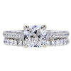 1.25 ct. Cushion Cut Bridal Set Ring, E, VS1 #3