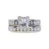 1.04 ct. Princess Cut Bridal Set Ring, H, SI1 #3