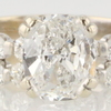 EGL Certified 2.17 ct. Cushion Cut Bridal Set Ring #1