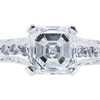 1.10 ct. Asscher Cut Bridal Set Ring, F, VS2 #4
