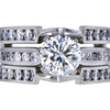 1.28 ct. Round Cut Bridal Set Ring, H, VS1 #3