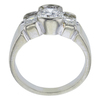 0.95 ct. Round Cut 3 Stone Ring, I-J, SI2-I1 #3