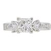 1.03 ct. Princess Cut 3 Stone Ring, H, VVS2 #3