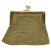 18K Yellow Gold Mesh Coin Purse w/ 2 Blue Sapphire Cabochons #2