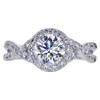 1.06 ct. Round Cut Halo Ring, I-J, I1-I2 #2