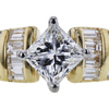 Antique GIA 1.13 ct. Princess Cut Central Cluster Ring, E, VS2 #4