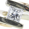0.77 ct. Princess Cut Solitaire Ring, G, VS1 #1