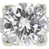 1.28 ct. Round Cut Bridal Set Ring, F, I1 #4