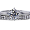 1.00 ct. Round Cut Bridal Set Ring, G, VS1 #3