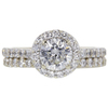 0.71 ct. Round Cut Bridal Set Ring, F, VS2 #3