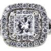 0.95 ct. Princess Cut Halo Ring, H-I, I1 #2