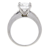 2.12 ct. Round Cut Bridal Set Ring, E, I1 #4