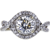 1.11 ct. Round Cut Bridal Set Ring, I, I1 #3