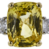 10.79 ct. Cushion Cut 3 Stone Ring, Yellow, SI1 #4