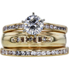 0.76 ct. Round Cut Bridal Set Ring, F, VS2 #3